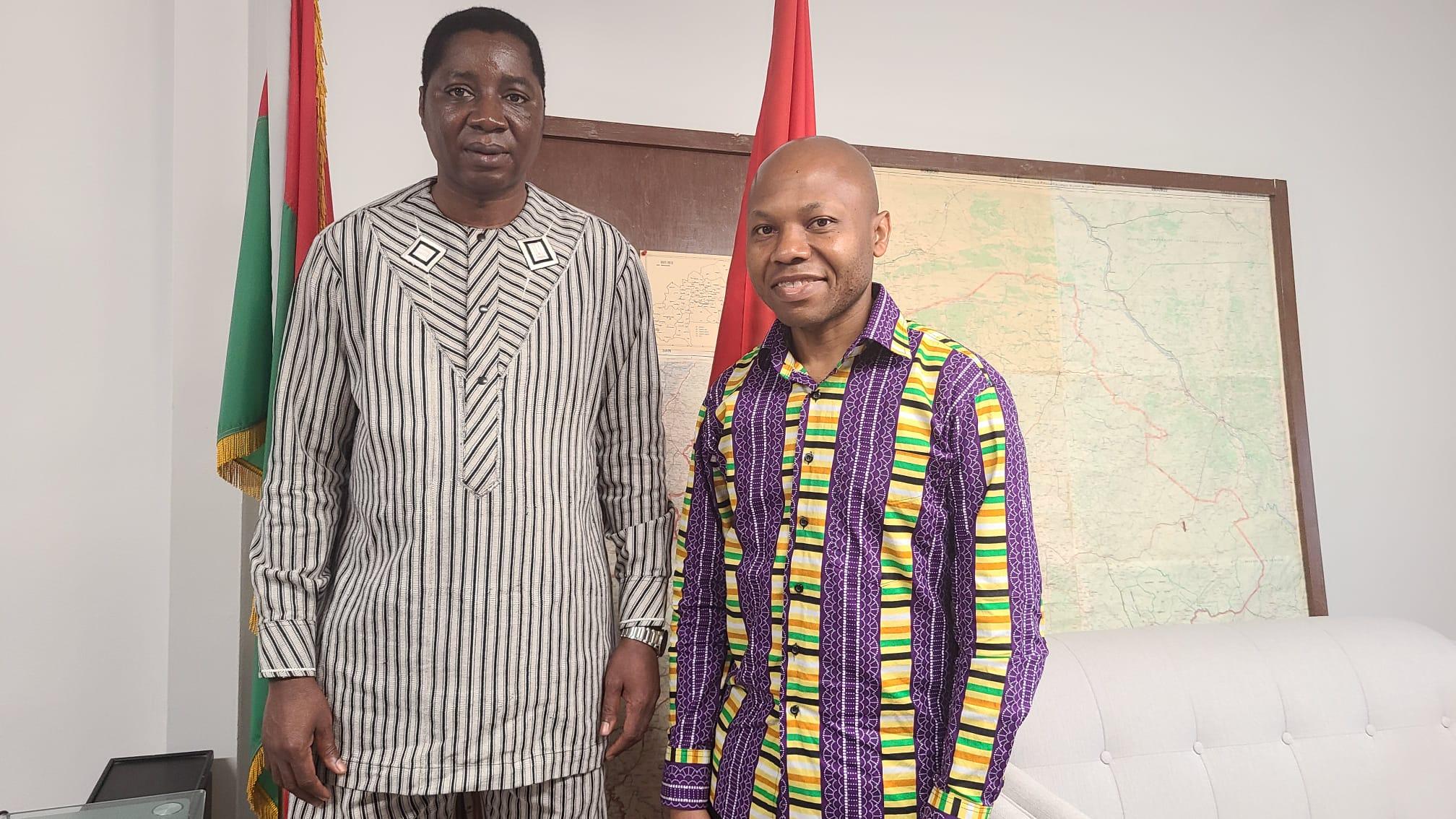 Avec Son Excellence Athanase Boudo, Ambassadeur du Burkina Faso au Canada.